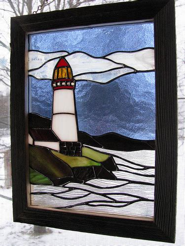 Stained Glass Lighthouse L by Photo