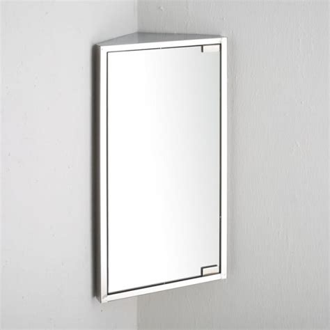Mirrored Corner Bathroom Cabinet Bathroom Corner Wall Cabinet Single Door Corner Mirror Clickbasin Co Uk