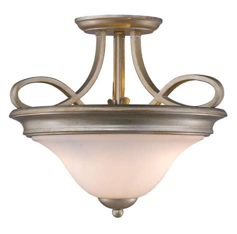 Gold Flush Mount Ceiling Light Golden White Gold Torbellino 2 Light 16in Wide Semi Flush Mount Ceiling Fixture White Gold 8107