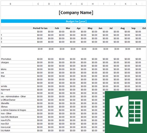 free business budget template free business template