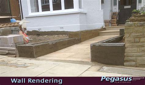 rendering a garden wall exterior wall rendering garden wall pegasus plasterers