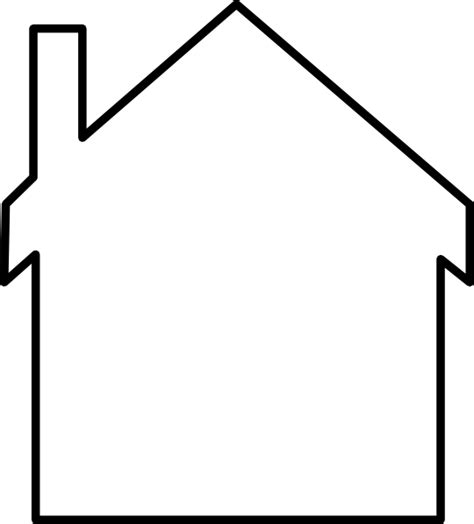 house outline house silhouette clip art at clker com vector clip art