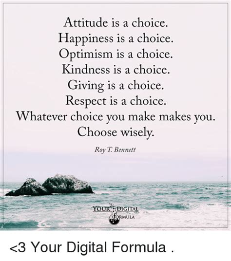 Is A Choice attitude is a choice happiness is a choice optimism is a