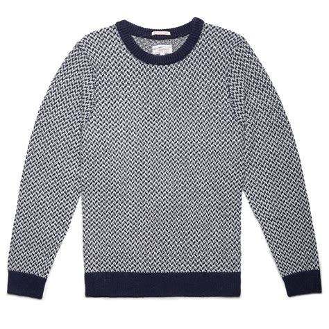 Sweater Stitch gant rugger blue tuck stitch sweater in blue for lyst