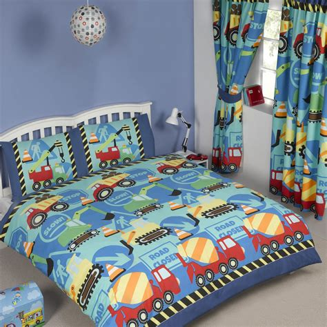 Bedroom Cover Sets by Blue Construction Time Boys Bedding Crib Toddler