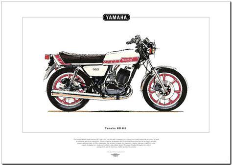 Yamaha Rd 400 Motorrad by Yamaha Rd400 Motorrad Kunstdruck Seventies Doppel Ebay
