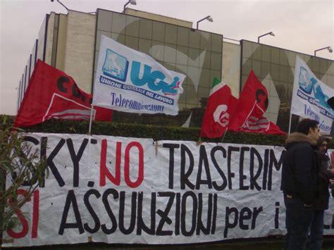 sede sky roma sky roma sciopero dei lavoratori contro il futuro incerto
