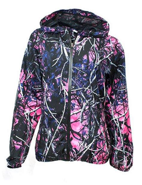 moonshine muddy pink purple camo zipper hoodie