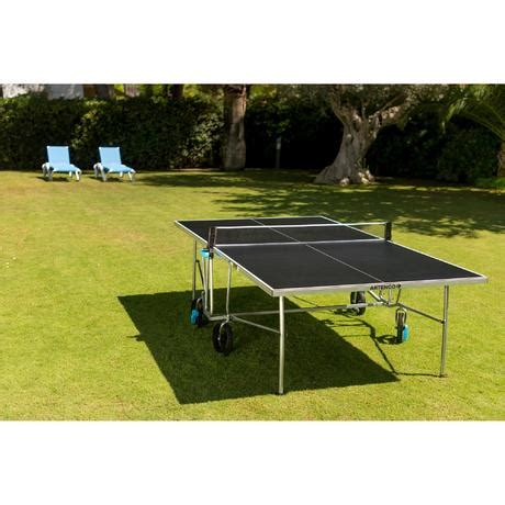 housse table de ping pong decathlon table de ping pong ft 750 ope outdoor housse offerte