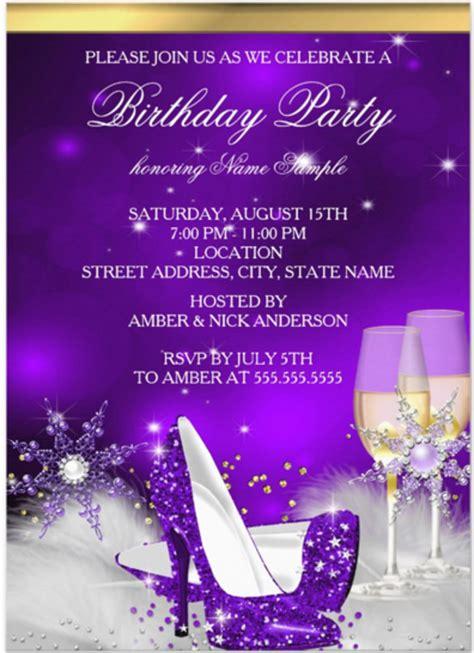 purple birthday card template birthday invitation flyer template orderecigsjuice info
