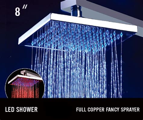 led light shower styles 2014 led shower light