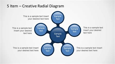 Creative Radial Diagram For Powerpoint With 5 Items Creative Diagrams