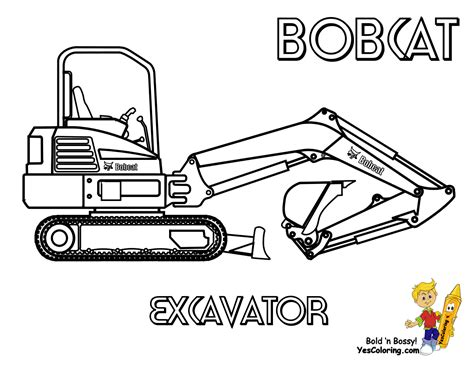 mini excavator coloring pages macho coloring pages of tractors construction free