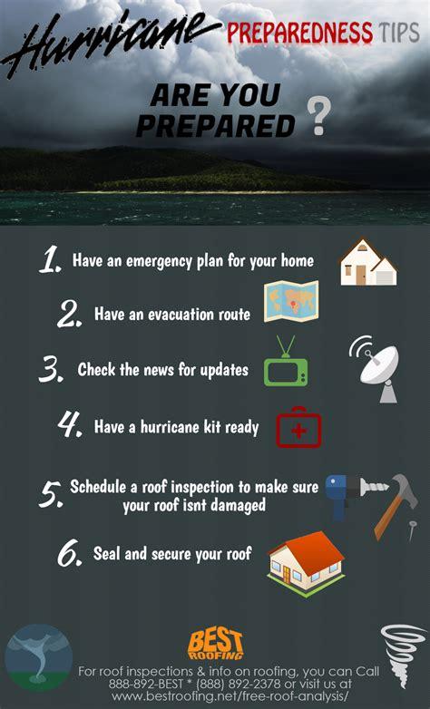 hurricane preparedness tips infographic  roofing