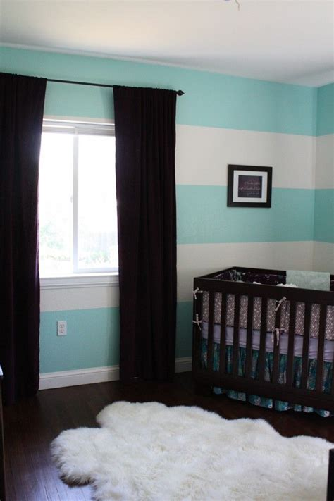 blue striped walls these turquoise stripes are so cute for a nursery stripes