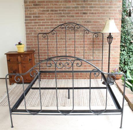 wrought iron queen bed wrought iron bed queen size thisthatnthuther pinterest