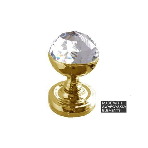 Swarovski Knobs by Swarovski Acorn 2018pb Polished Brass Faceted