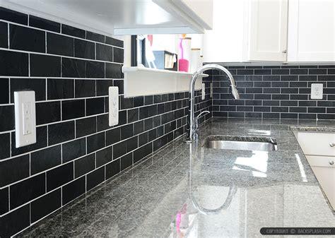 black slate backsplash tile new caledonia granite