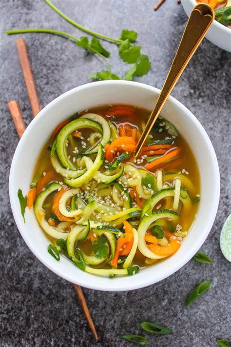 miso soup  vegetable noodles  saucy kitchen