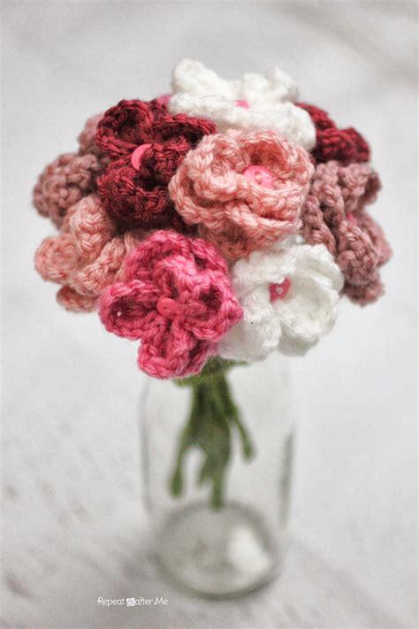 fiore flowers come fare bouquet di fiori a uncinetto spiegazioni in