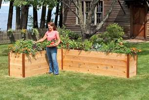 elevated cedar raised garden beds the green