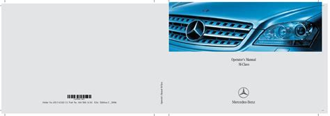 free car manuals to download 2006 mercedes benz g55 amg engine control 2006 mercedes benz ml350 ml500 owners manual