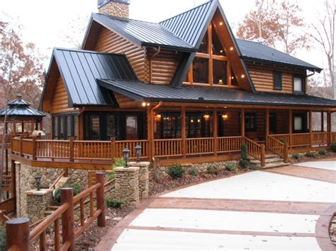 From Remodels To New Construction Lock Tite Log Systems 2 Story Log Home Plans