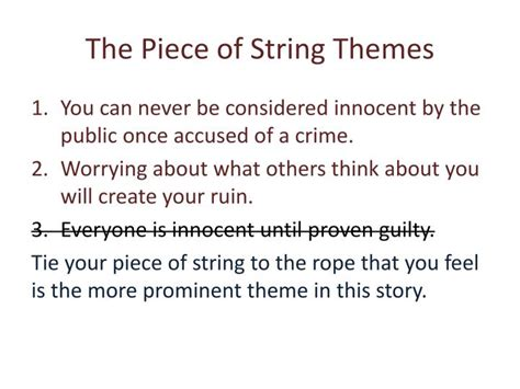 Themes Of The Story A Piece Of String | ppt the piece of string powerpoint presentation id 2441095