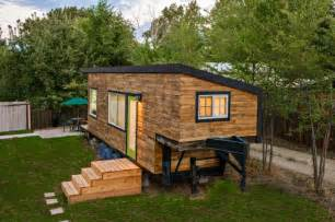 Trailer Houses beautiful house built on a flatbed trailer home design garden