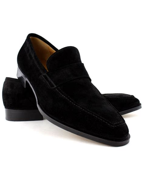 black suede mens loafers gravati black suede venetian loafer in black for lyst