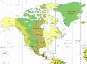 North American Time Zone Map by Pics Photos North American Time Zones