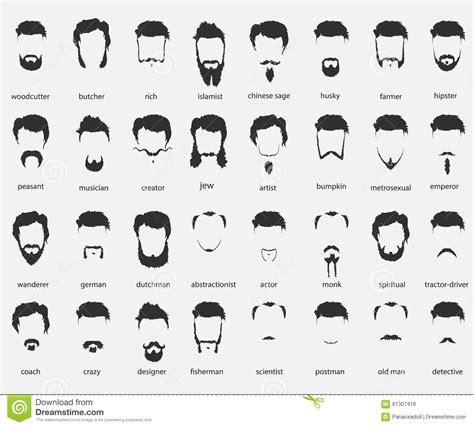 les différentes coupes de cheveux homme cheveux et barbes de diff 233 rentes fois illustration de