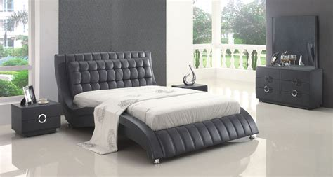 amazing modern bedroom sets flora black leather set