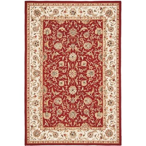 burgundy rug safavieh chelsea burgundy 6 ft x 9 ft area rug hk56c 6 the home depot