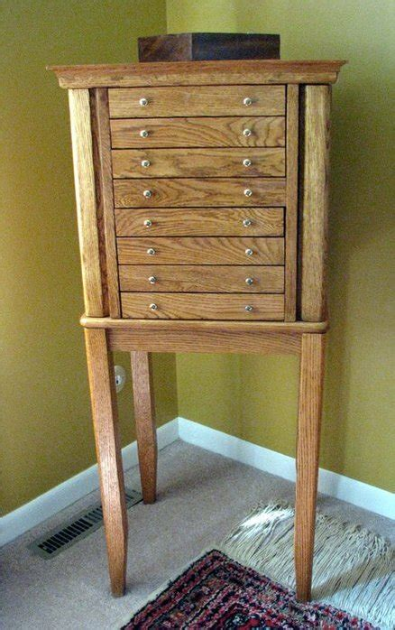 jewelry armoire plans oak jewelry armoire by tjv lumberjocks com