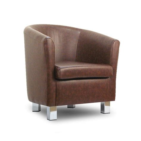 small leather sofa tub chair mahogony chrome legs