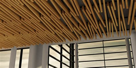 Ceiling Baffles by Beam And Baffle Ceilings Awci S Construction Dimensions