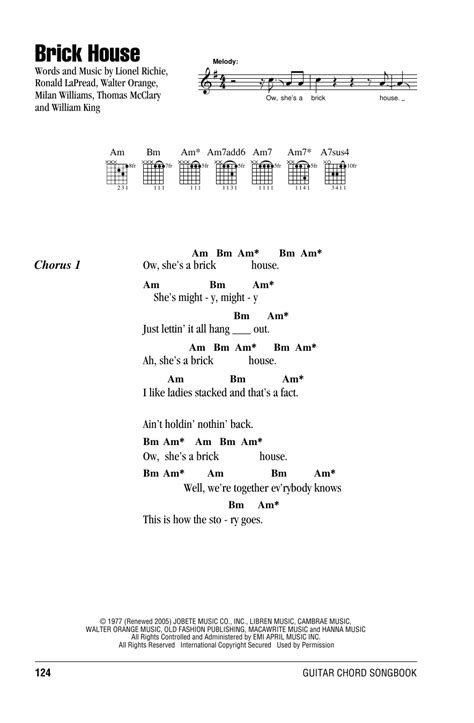 brick house sheet music brick house sheet music by commodores lyrics chords 162113
