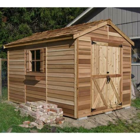 8 X 12 Sheds by Lifetime Sheds Cedar Shed 8 X 12 Ft Rancher Storage Shed