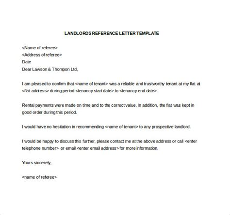 work reference letter for landlord sle cover letter
