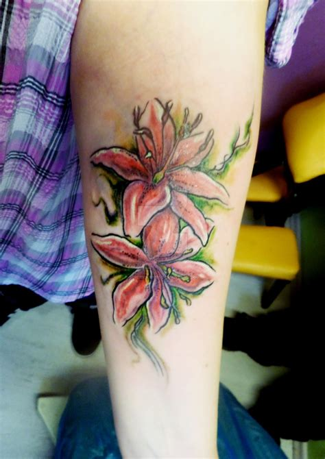 watercolor tattoos boise watercolor lilies by boise by schubert1976 on