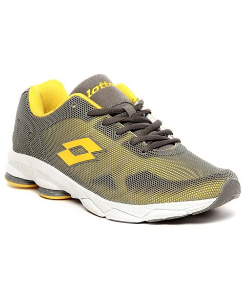 lotto athletic shoes lotto bristol grey yellow running shoes available at