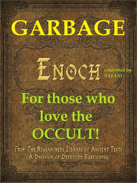 searching for god in the garbage books ezekiel38rapture the book of enoch is satanic garbage