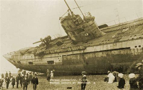 u boat hastings u 118 a world war one submarine washed ashore on the
