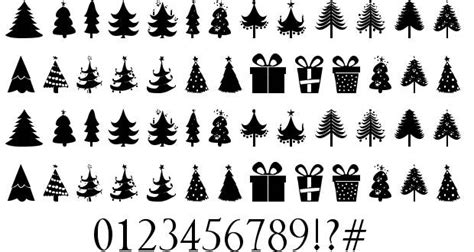 christmas trees font by zdravko andreev fontriver