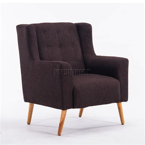brown fabric armchair foxhunter linen fabric tub chair armchair dining living room lounge tc05 brown ebay