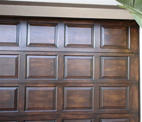 faux garage doors - Faux Wood Garage Door Paint