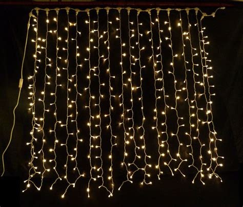 Warm White Led Curtain Light Ideal Wedding Backdrop Party Curtain Of Lights
