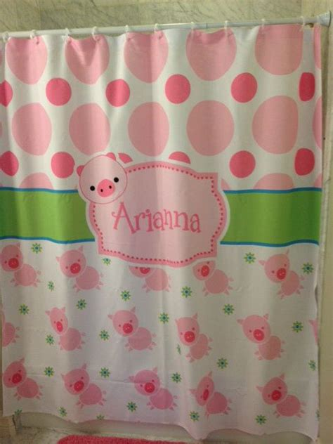 pig shower curtain pin by bobbie anders on custom personalized shower