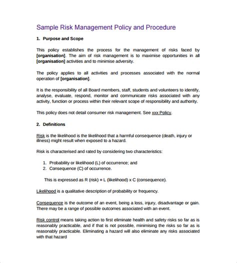 financial policies and procedures template policy and procedure template 11 documents in pdf